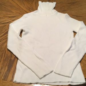 Old navy white ribbed turtleneck